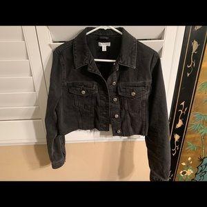 Top shop crop denim jacket